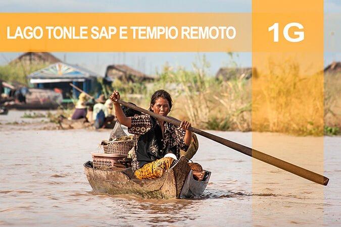 Tour 1G Lago Tonle Sap e tempio remoto