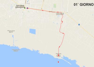 Mappa tour Angkor e villaggio galleggiante