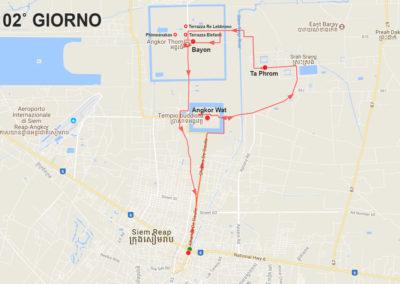Mappa tour Angkor la grande capitale - giorno 2
