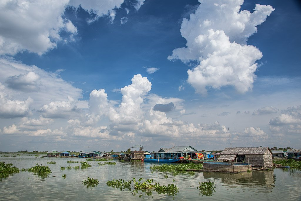 Villaggio galleggiante Kompong Kleang, Cambogia