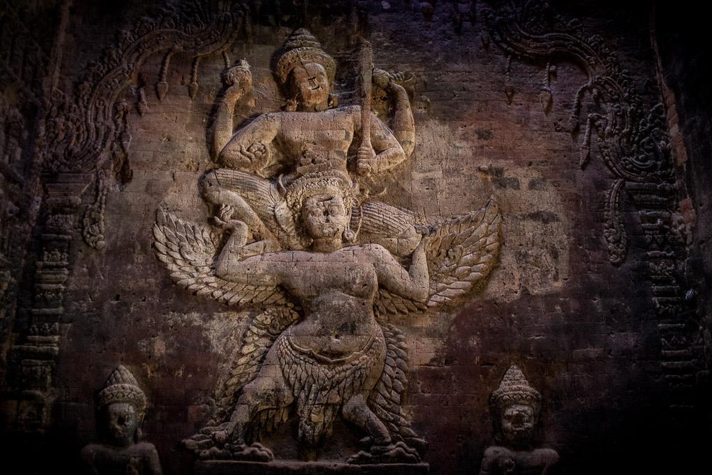 Incisione di Vishnu, Prasad Kravan, Cambogia (© Gabriele Stoia)