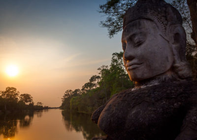 South Gate Angkor Thom, Siem Reap, Cambogia (In Asia Travel © Gabriele Stoia)