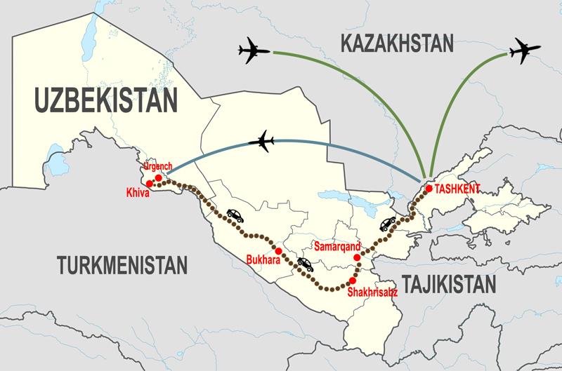 Itineraries-Tour-classico-Uzbekistan-da-Tashkent