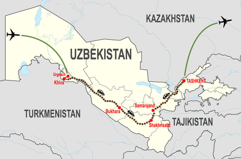 Itineraries-Tour-classico-Uzbekistan-da-Urgench © In Asia Travel