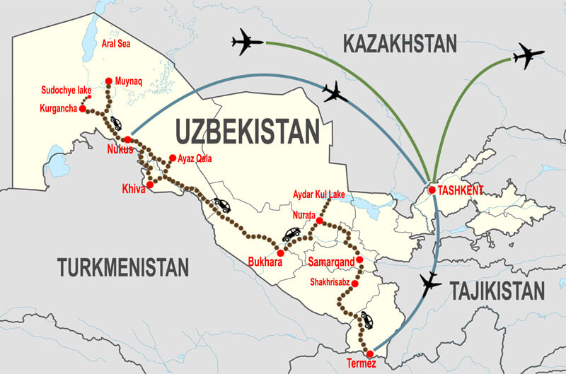 Itineraries-Gran-tour-in-Uzbekistan © In Asia Travel