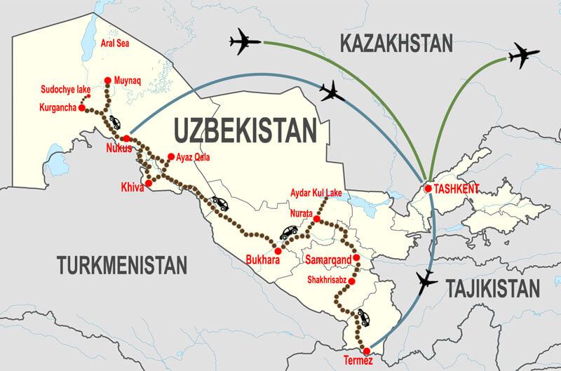 Itineraries-Gran-tour-in-Uzbekistan © In Asia Travel